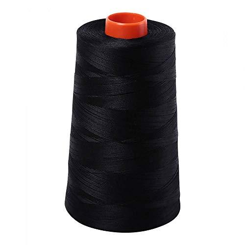 Aurifil 2692 Mako 50 Wt 100% Cotton Thread, 6,452 Yard Cone Black