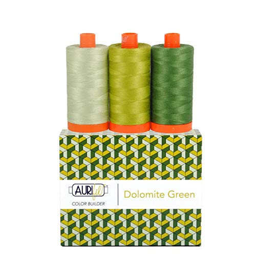 Aurifil Thread CB Dolomite Grn 3pc