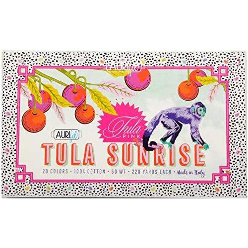 Tula Pink Tula Sunrise Aurifil Thread Kit 20 Small Spools 50 Weight TP50SC20