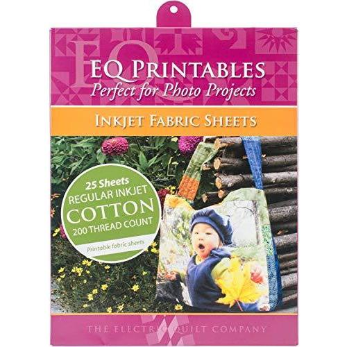 Cotton Printable Fabric Sheets 25 Sheets per Pack