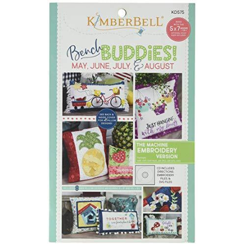 Kimberbell Bench Buddy Series May - August Machine Embroidery CD Pattern