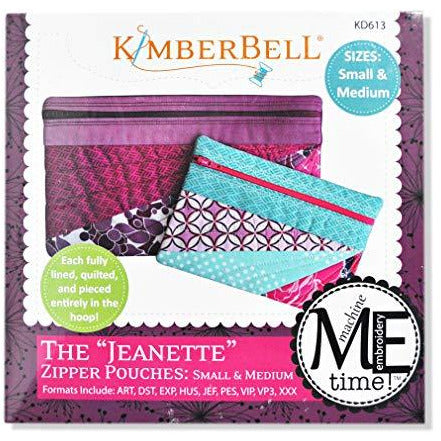 Kimberbell The Jeanette Zipper Pouches Pattern