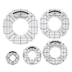 Good Measure Low Shank Set of 5 Circles rulers, Transparent