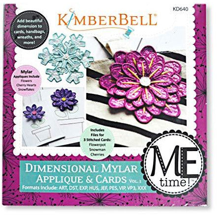 KimberBell - ME Time: Dimensional Mylar Applique & Cards, Volume 1 Embroidery CD