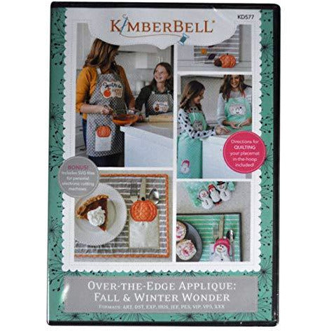 Kimberbell Machine Embroidery CD: Over-The-Edge Applique: Fall & Winter Wonder