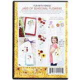 Kimberbell Fun with Fringe: Jars of Seasonal Flowers embroidery cd