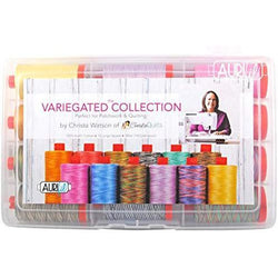 Variegated Collection Aurifil Thread Kit by Christa Watson 12 Large Spools 50 Weight CW50VC12, Assorted