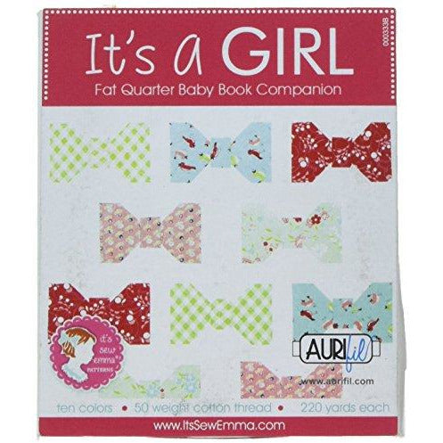 Aurifil Its A Girl Collection for Its Sew Emma 50wt 10 Small Spools