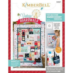 KIMBERBELL Machine Embroidery Book w/CD: Vintage Boardwalk (KD807)