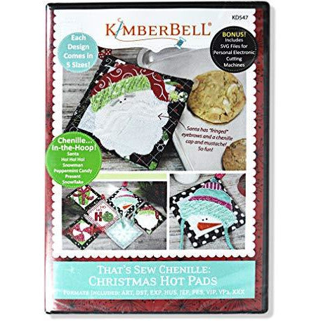 KimberBell - That's Sew Chenille: Christmas Hot Pads Machine Embroidery CD
