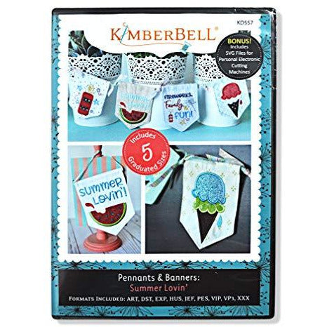 KIMBERBELL Machine Embroidery CD: Pennants & Banners: Summer Lovin'