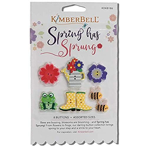 Kimberbell Luck O The Gnome Spring Has Sprung Buttons embellishment