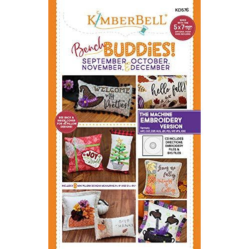 Kimberbell Machine Embroidery CD Bench Buddies Series (Sep-Oct-Nov-Dec) KD576