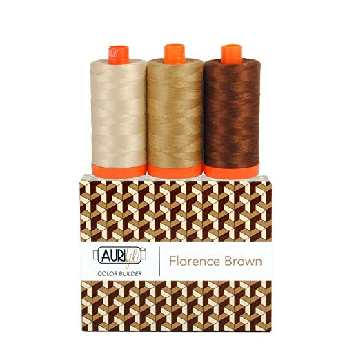 Aurifil Thread CB FlorencBrown 3pc