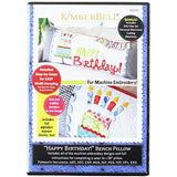 Kimberbell Machine Embroidery Happy Birthday Bench Pillow CD