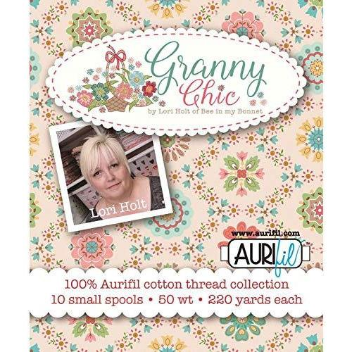 Lori Holt Granny Chic Aurifil Thread Kit 10 Small Spools 50 Weight LH50GC10