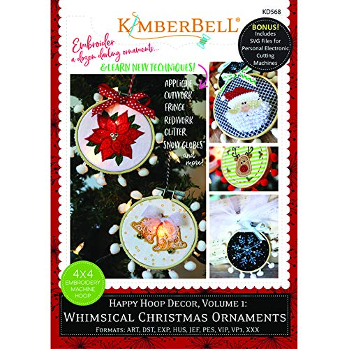 Kimberbell Machine Embroidery CD: Happy Hoop Decor, Volume 1: Whimsical Christmas Ornaments