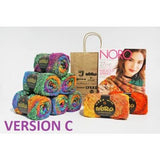 Noro Yarn Knitting Kit - Square in a Square Blanket - 8 Skeins - Noro Magazine
