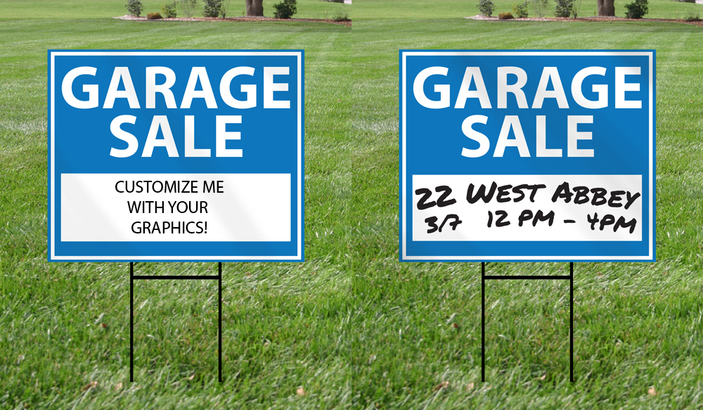 Dry Erase Yard Sign Double Sided