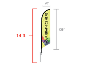 14 foot Angled Feather Flag