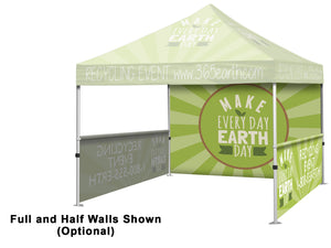 Event Tent full package. Custom Printed Back and Side Walls Included.