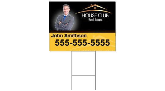 24x18 Double Sided Yard Sign with Stake