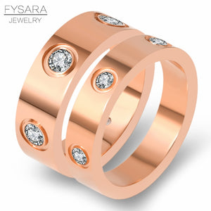 Love Ring - Luxury Jewelry - 4+6mm band thickness-Gold, Rose Gold, Silver