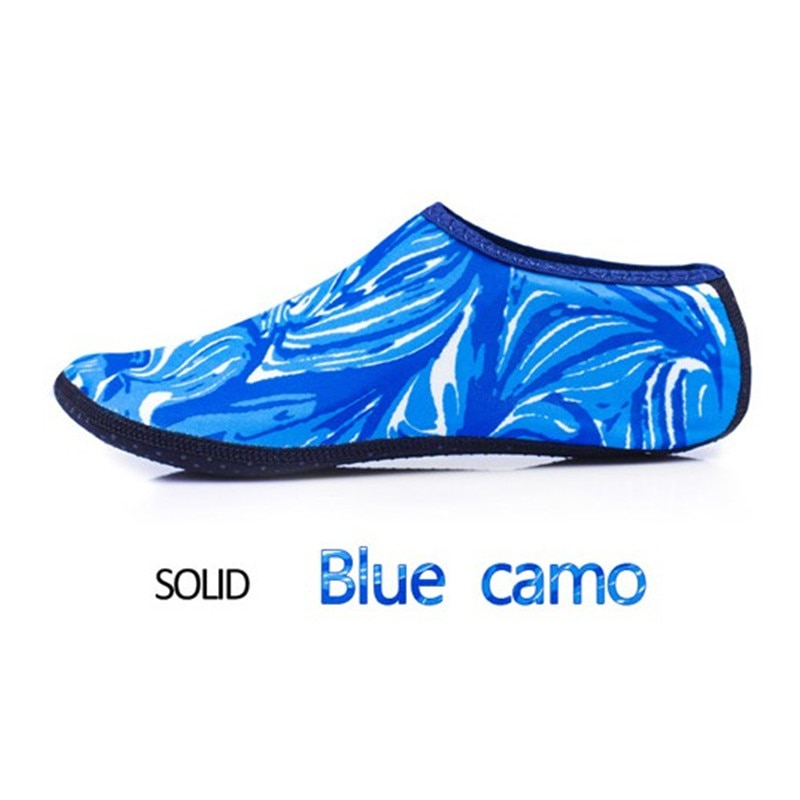 blue camo water shoes