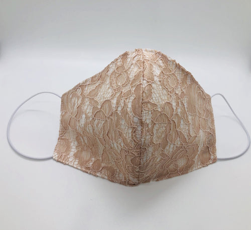 Japanese Peach Lace Face Mask By Ludmila Couture