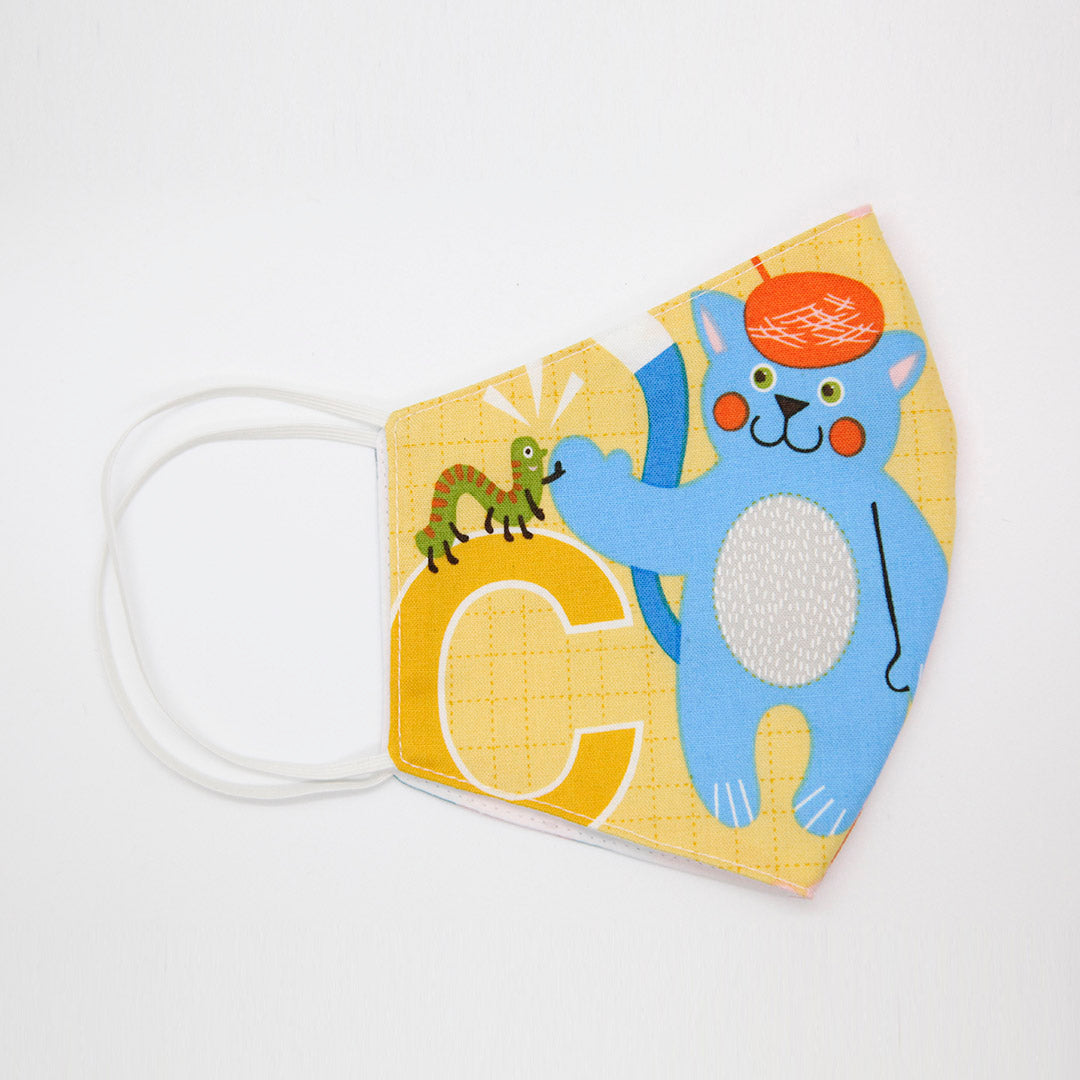 Kids 100% cotton face mask - BEAR and HEDGEHOG