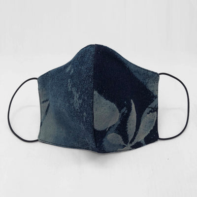 Custom dye cotton face mask - denim