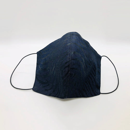 Cover Face Print Waxed Denim Face Covering