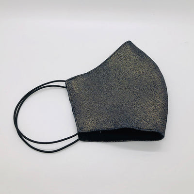 Cover Face Cotton Waxed Denim Mask - Black/Gold