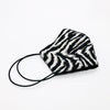 Zebra cotton animal print jacquard face mask