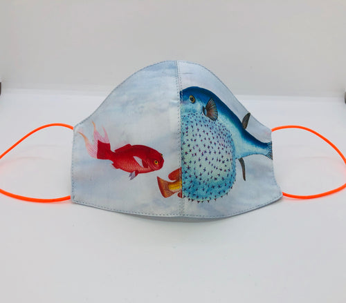 Under the Sea Kids Mask Red & Puffer Fish