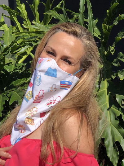 Cotton Summer Face Bandana by Ludmila Couture