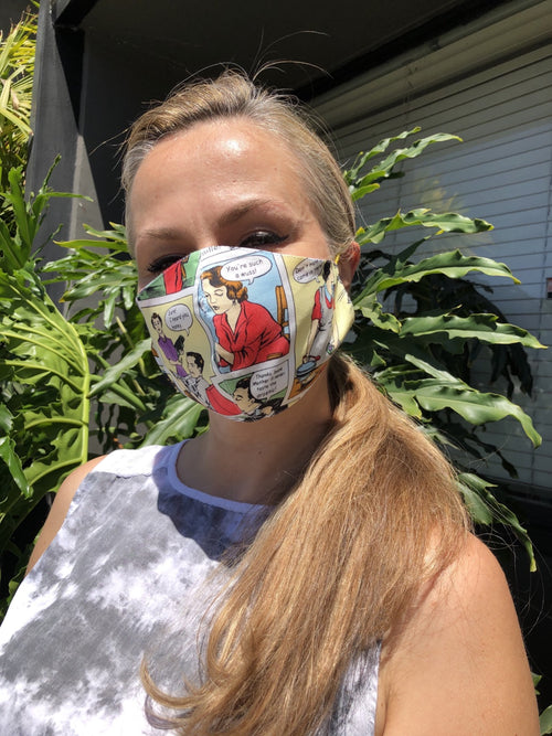Cotton Comics Mask by Ludmila Couture