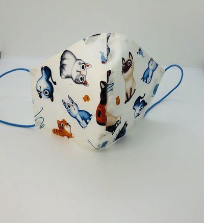 Cotton Felines White/Blue Family look by Ludmila Couture