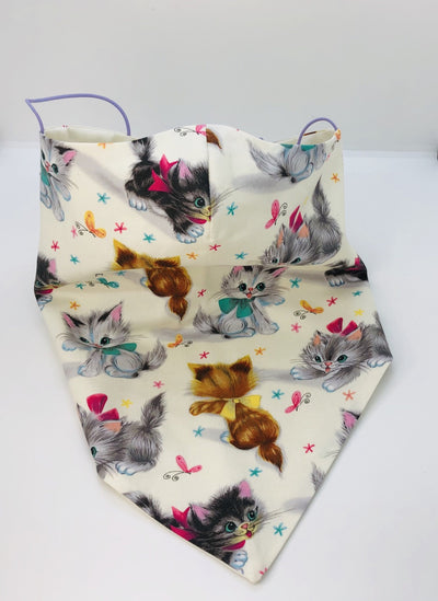 Cotton Felines Bandana by Ludmila Couture