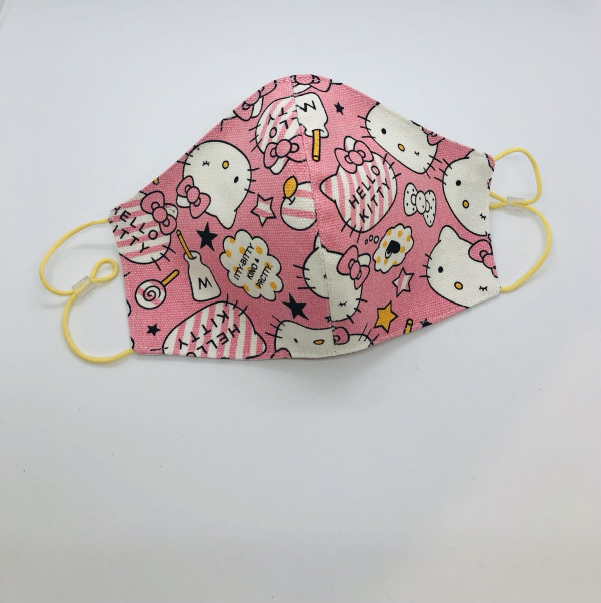 Cotton Pink Kitty mask by Ludmila Couture