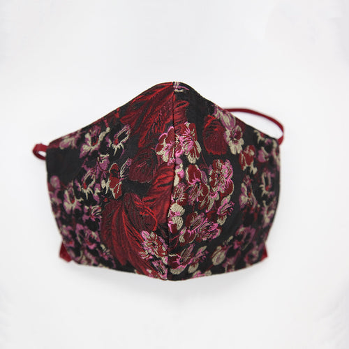 Flower print Italian jacquard face shield