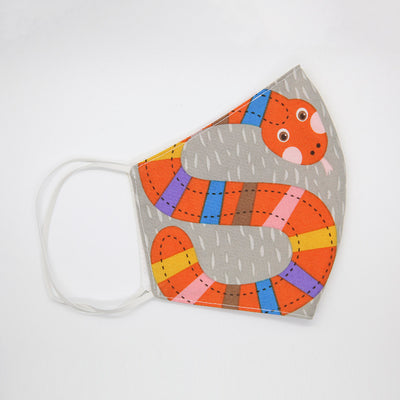 Kids 100% cotton face mask - SNAKE and IGUANA