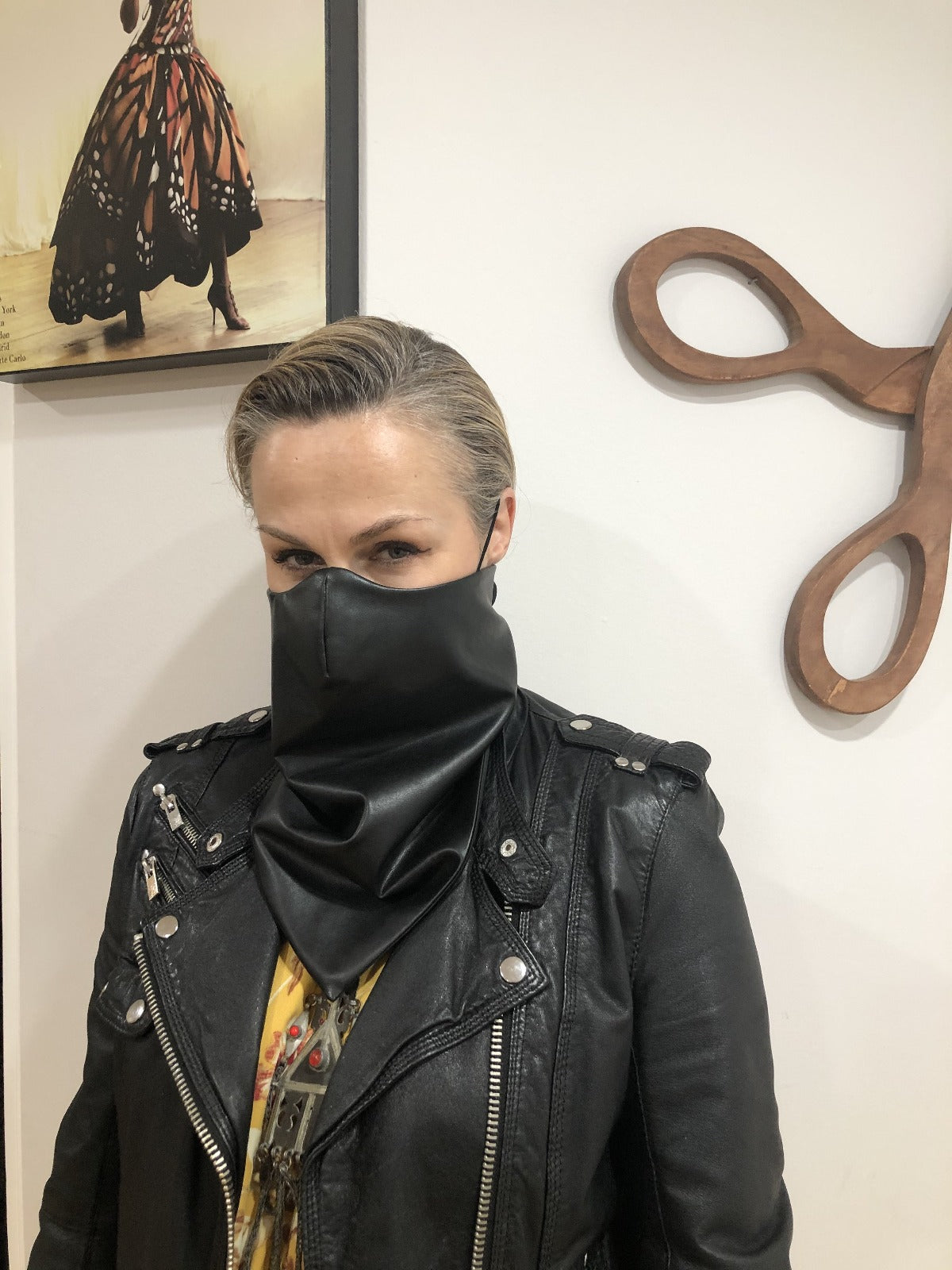 Vegan Leather Moto Bandana by Ludmila Couture
