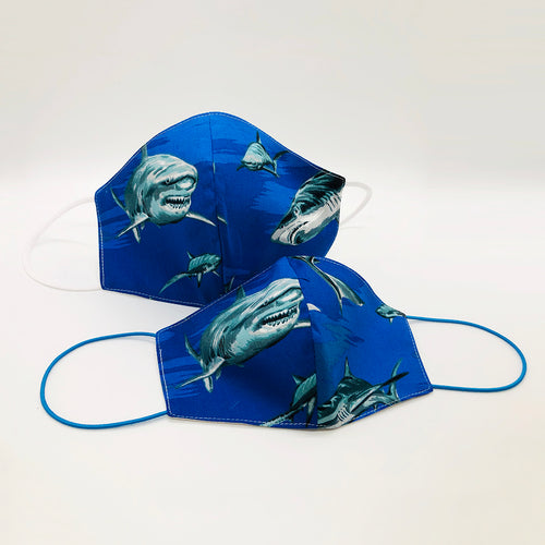 Cotton Family look Blue/Shark for kids and adults by Ludmila Couture