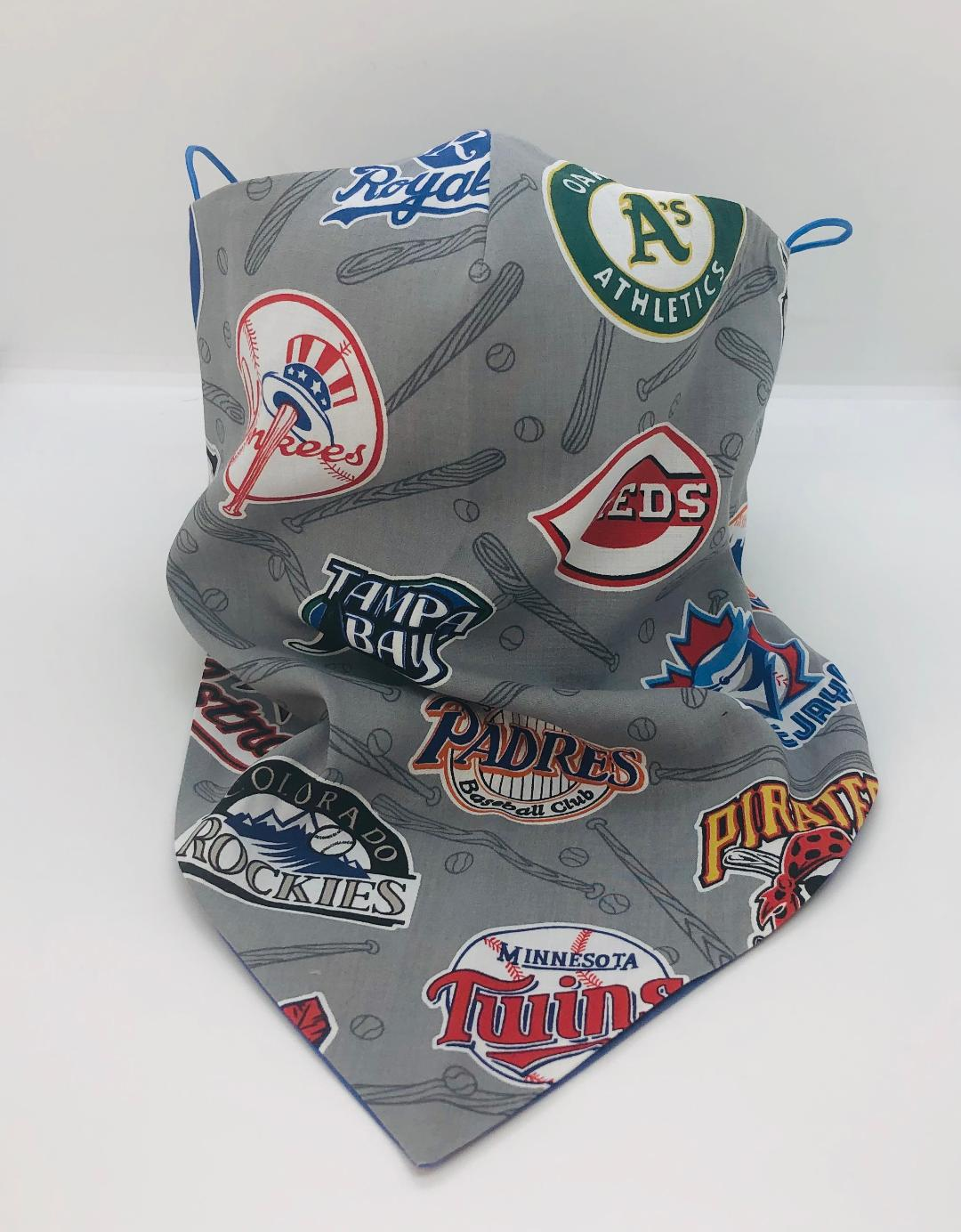 Cotton BaseBall Club bandana by LudmilaCouture yankees reds padres rampa bay gator
