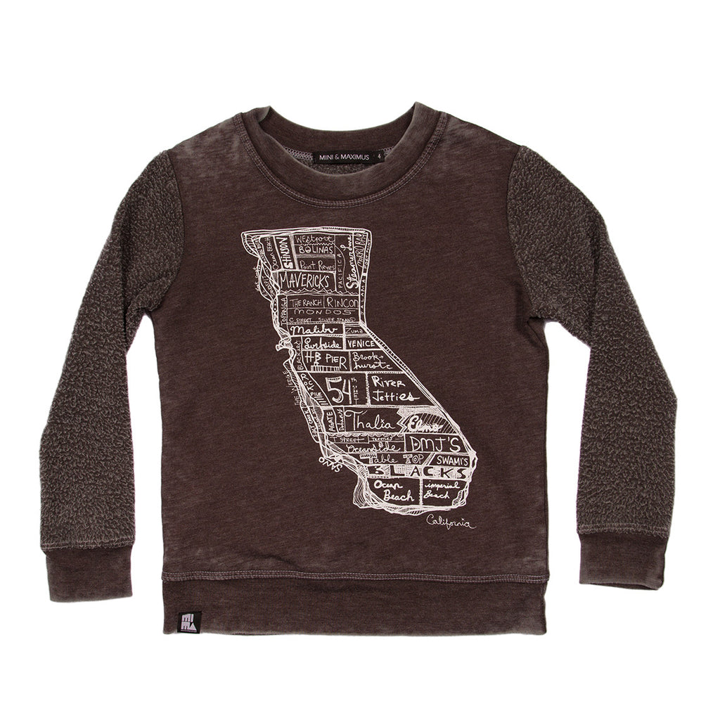 california map sweater