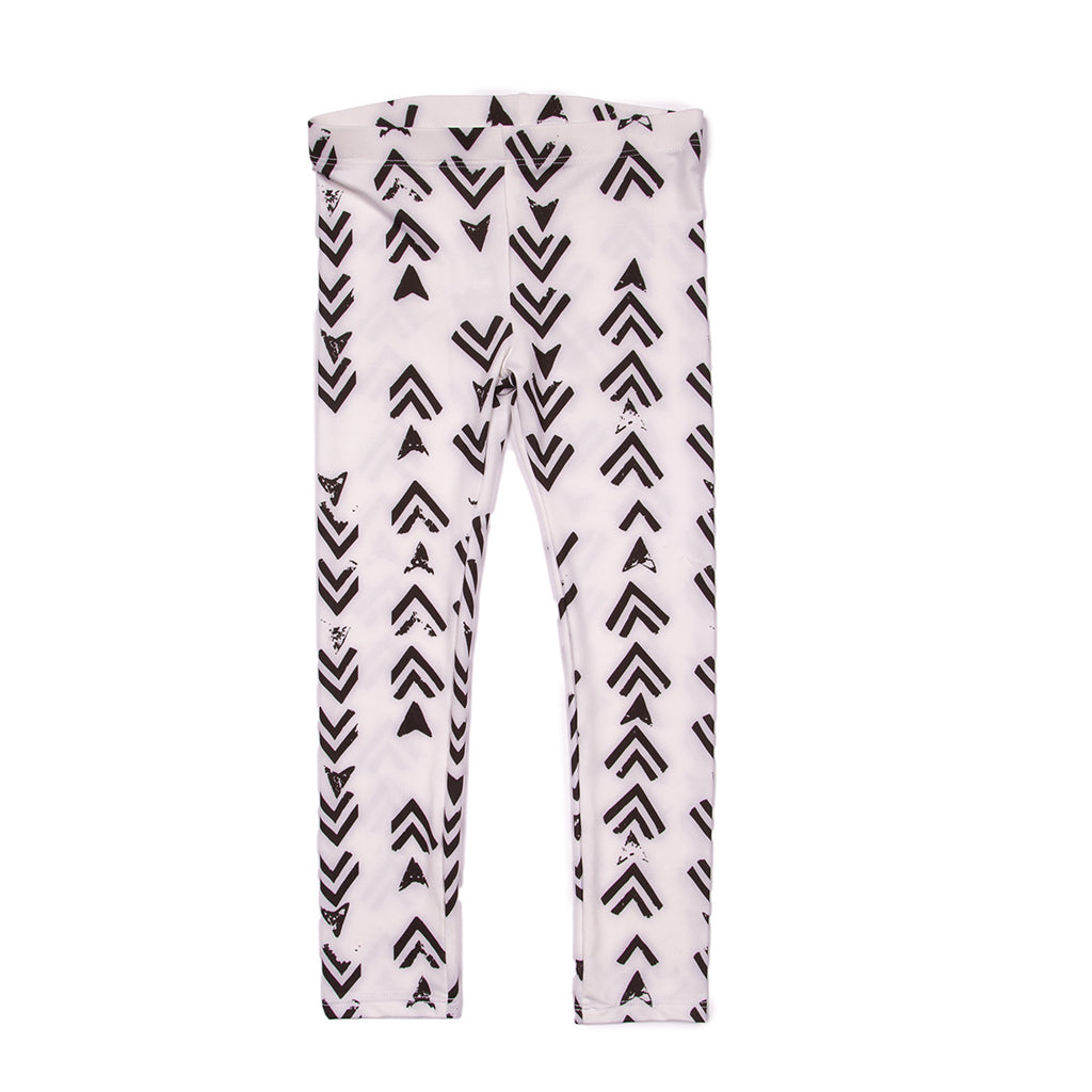 white arrows leggings