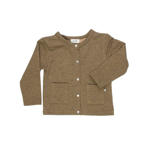 square pockets cardigan