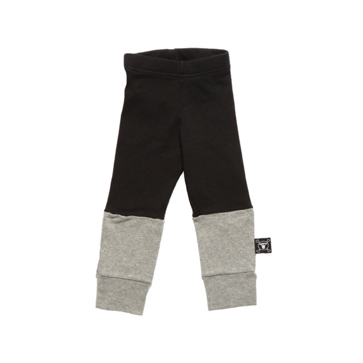1/4 leggings black/grey