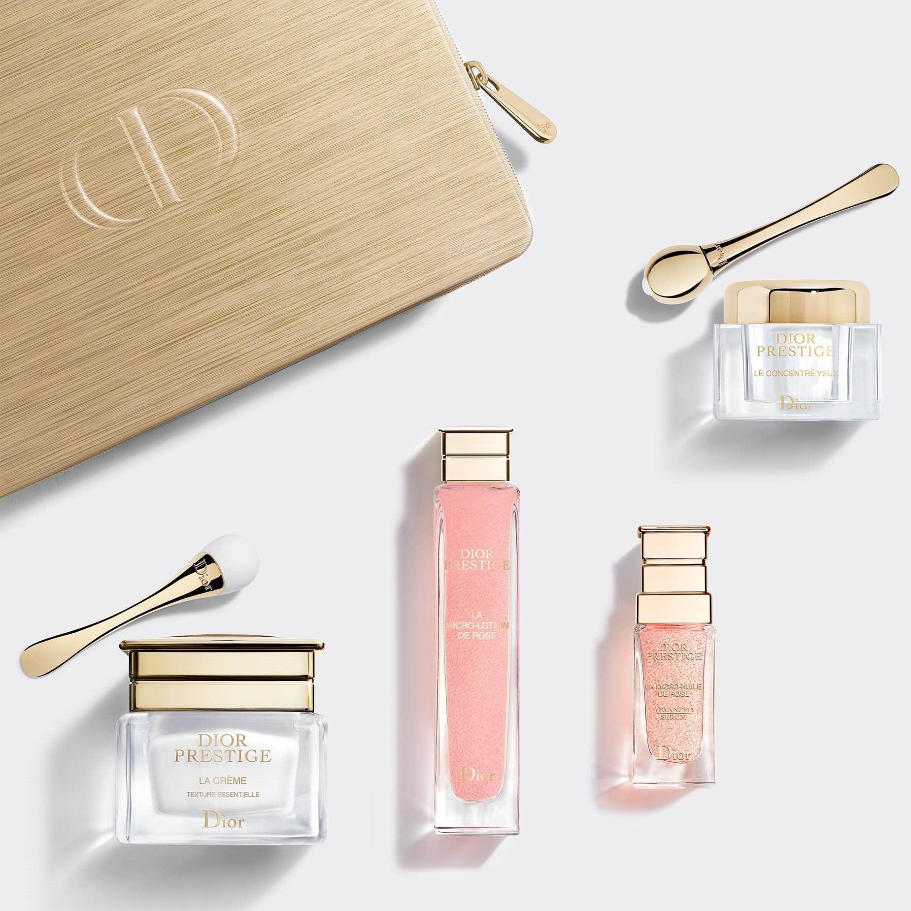DIOR PRESTIGE | Regenerating and Perfecting Discovery Ritual - La Micro-Lotion de Rose, La Micro-Huile de Rose Advanced Serum, Le Concentré Yeux, La Crème, Applicators